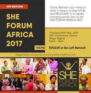 She Forum 2017 :  EVOLVE or be left behind!
