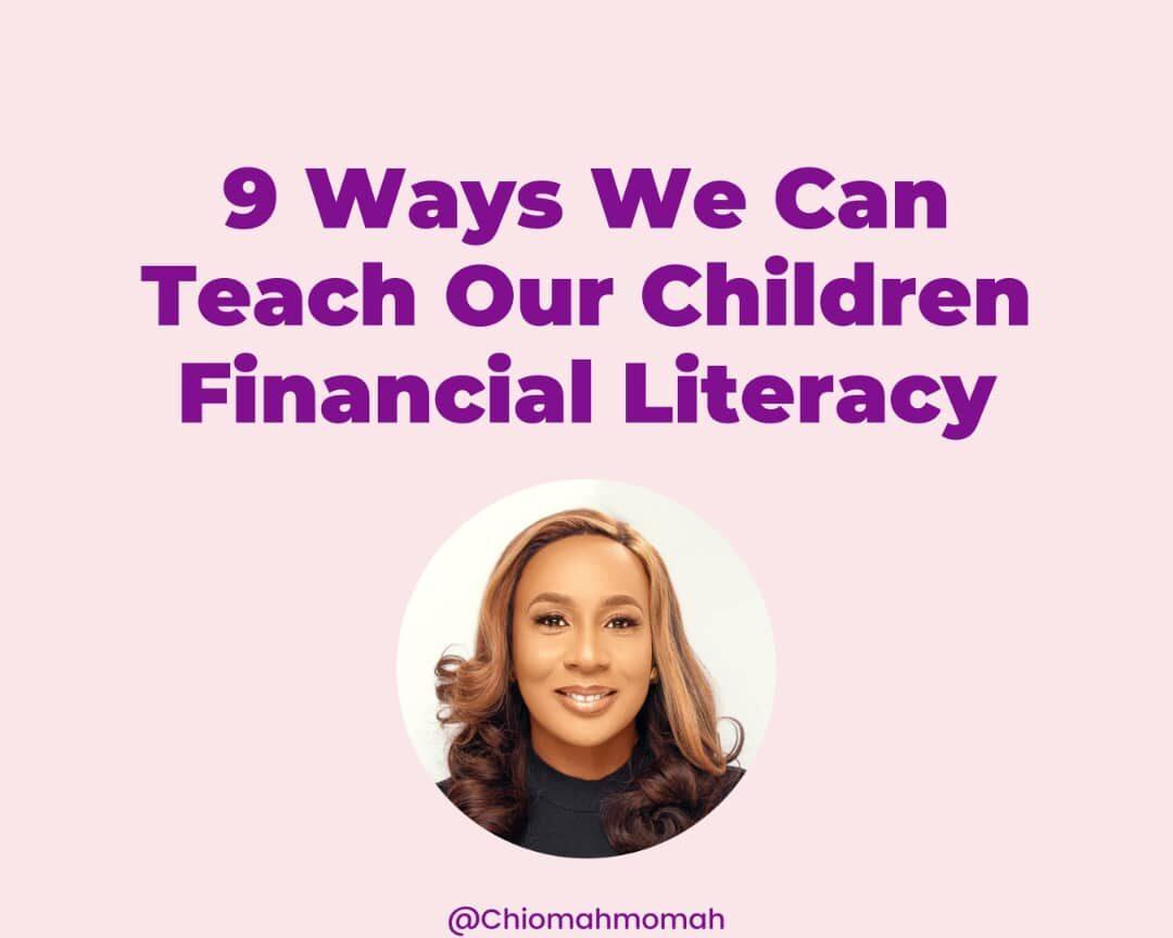 Teaching your children financial literacy
